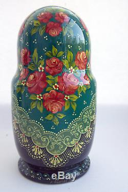 Vintage 10Pcs Signed Matryoshka Russian Fairy Tale Nesting Doll Magnificent 2001