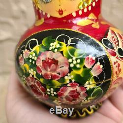 Vintage 10 Piece Exclusive Babushka Matryoshka Russian Stacking Nesting Dolls 5