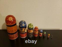 Vintage Nesting Doll Matreshka (8) Made in USSR 1977