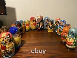 Vintage Nesting Russian Doll Lot Disney Star Wars Pokémon Marvel Beatles +More
