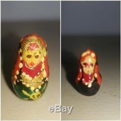 Vintage Russian Matryoshka Babushka10 pcs Hand Painted Nesting Dolls Authentic