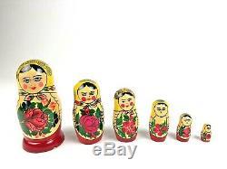 Vintage Russian Matryoshka Nesting Dolls Antique Gorky Semonov Set of 6 USSR