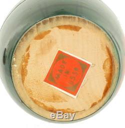 Vintage Russian Matryoshka Nesting Dolls Hand Painted Wood 7pc Ussr Sticker 5.5