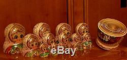 Vintage Russian Nesting. Doll Mstera Style 20 Pcs Russian Stories 90-s 11