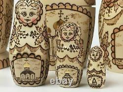 Vintage Russian Nesting Dolls Matryoshka 5 pieces