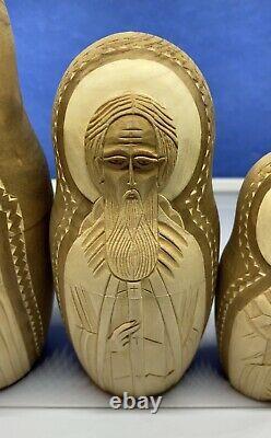 Vintage Russian Nesting Dolls Wooden Signed 7 Pcs