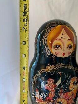 Vintage Russian Nesting Matryoshka Dolls 7 Dolls