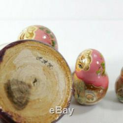 Vintage Winter Troika Matryoshka Russian Nesting Dolls -Signed-