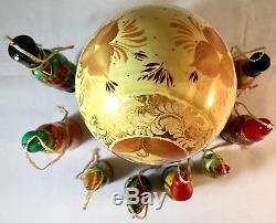 Vtg 9Pcs Signed Russian Nesting Dolls Matryoshka Christmas Balalaika Serenade
