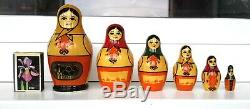 XXII Moscow-1980 Olympics Games LOGO ORIGINAL Russian Nesting Dolls MATRESHKA