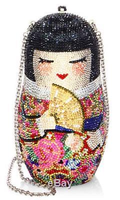 Yy Judith Leiber Russian Nesting DOLL Japanese NIKO Minaudière Evening Bag NEW