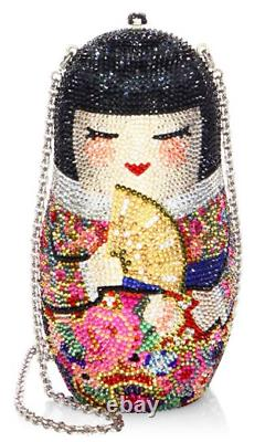 Yy Judith Leiber Russian Nesting DOLL Japanese NIKO Minaudière Evening Bag NEW
